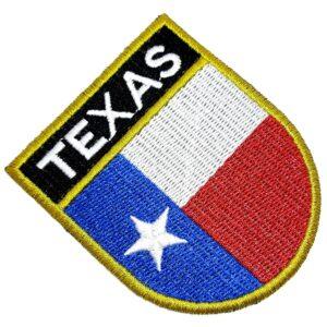 Bandeira Estado Texas EUA Patch Bordada Termo Adesivo