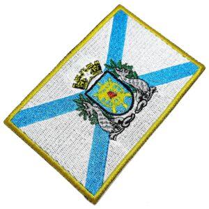 Bandeira Estado Guanabara Brasil Patch Bordada Termo Adesivo