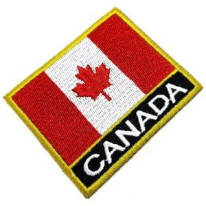 Bandeira País Canada Patch Bordada Termo Adesivo Para Kimono