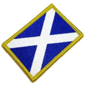Bandeira País Escócia Patch Bordada Fecho Contato Para Roupa