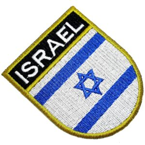 Bandeira País Israel Patch Bordada Termo Adesivo Para Roupa