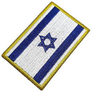 Bandeira País Israel Patch Bordada Termo Adesivo Para Camisa