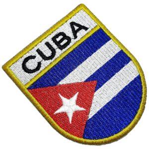 Bandeira País Cuba Patch Bordada Termo Adesivo Para Camisa