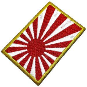 Bandeira País Japão Patch Bordada Termo Adesivo Para Camisa