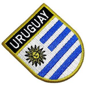 Bandeira País Uruguai Patch Bordada Termo Adesivo Para Roupa
