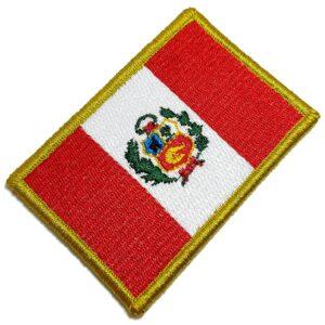 Bandeira País Perú Patch Bordada Fecho Contato Para Uniforme