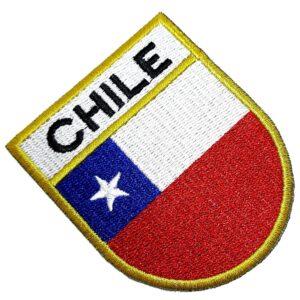 Bandeira País Chile Patch Bordada Termo Adesivo Para Roupa