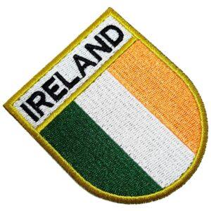 Bandeira País Irlanda Patch Bordada Termo Adesivo Para Roupa