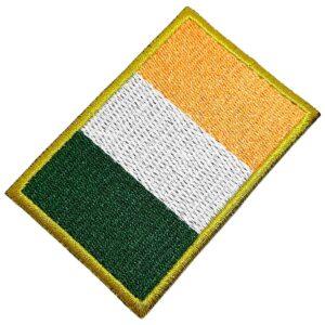 Bandeira País Irlanda Patch Bordada Termo Adesivo Para Boné