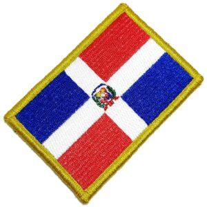 Bandeira República Dominicana Patch Bordada Fecho Contato