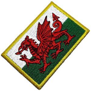 Bandeira País de Gales Patch Bordada Termo Adesivo Para Boné
