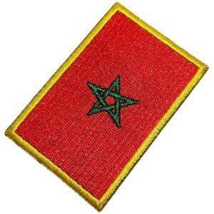 Bandeira País Marrocos Patch Bordada Termo Adesivo Para Boné