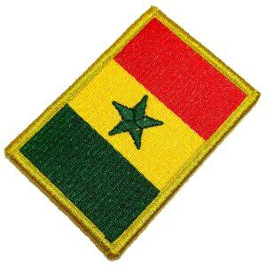 Bandeira País Senegal Patch Bordada Fecho Contato Para Roupa