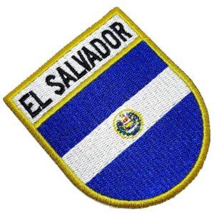 Bandeira País El Salvador Patch Bordada Termo Adesivo