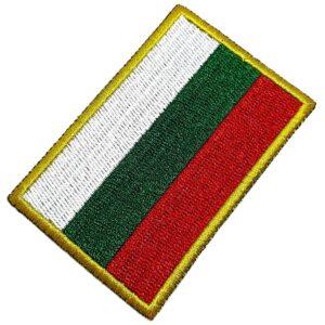 Bandeira País Bulgária Patch Bordada Termo Adesivo Para Boné