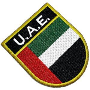 Bandeira Emirados Árabes Unidos Patch Bordada Termo Adesivo