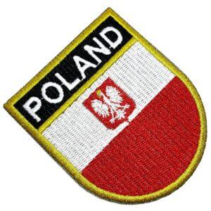 Bandeira País Polônia Patch Bordada Termo Adesivo Para Roupa