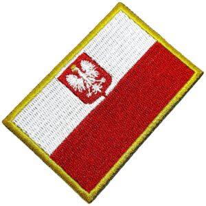 Bandeira País Polônia Patch Bordada Termo Adesivo Para Boné