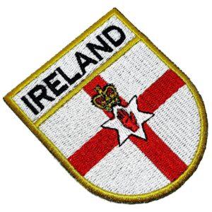 Bandeira País Irlanda do Norte Patch Bordada Termo Adesivo