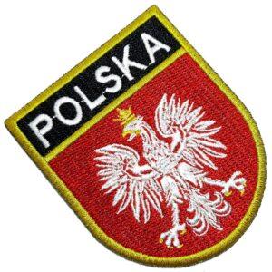 Bandeira País Polônia Polska Patch Bordada Termo Adesivo