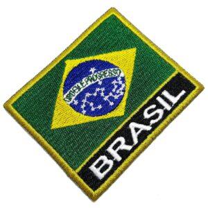 Bandeira País Brasil Patch Bordada Termo Adesivo Para Kimono