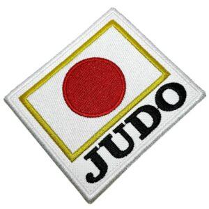 Judô bandeira Japão patch bordado passar a ferro ou costurar