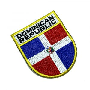 BP0145ET 01 Bandeira República Dominicana Patch Termoadesivo