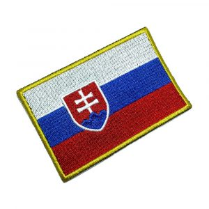BP0197T 21 Bandeira Eslováquia Patch Bordado Termo Adesivo