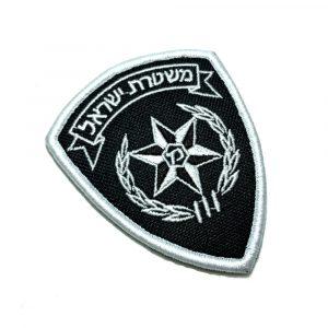 EML028V Polícia de Israel Patch Bordado Fecho Contato Gancho