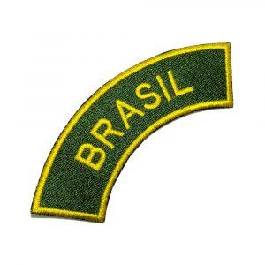 EML124 Brasil Patch Bordada Termo Adesivo